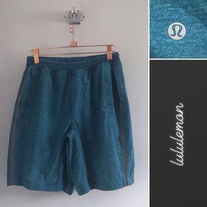 Lululemon Teal Lined Shorts • M